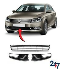 NEW VOLKSWAGEN PASSAT (B7) 2010 - 2014 FRONT BUMPER LOWER GRILS PAIR SET