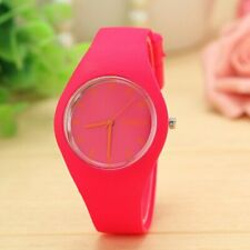 NEW Colorful Geneva Silicone Jelly Quartz Analog Sport Wrist Watch Women,kids