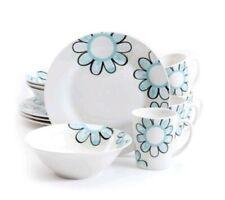 Gibson Home Lush Blossom 12Pc Porcelain Dinnerware Set