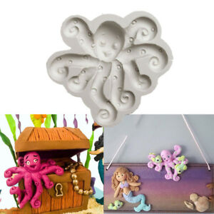 3D Octopus Silicone Fondant Mould Cake Beach Sea Animal Chocolate Baking Mold UK