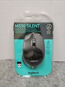Logitech - M330 Silent Plus Wireless Mouse - Black Bluetooth