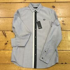 Fred Perry Long Sleeve Shirt Tipped Placket Industrial  Grey - M