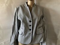 Viyella, Uk 18p, Eur 44, Blue & White Striped Jacket/blazer, NWOT, 83% Cotton