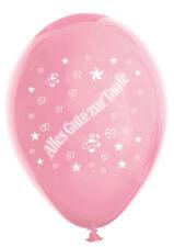 10 Luftballons Alles Gute zur Taufe, rosa & fuchsia, ca. 30 cm