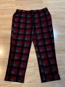 New Men's Sonoma Life & Style Soft Lounge Pajama Pants Red & Gray Plaid Size 2XL