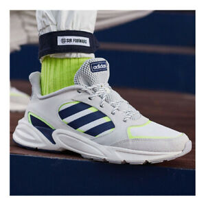 Adidas 90s Valasion men's shoes size 13 Cloud White/Dark Blue/Yellow EE9895 NEW