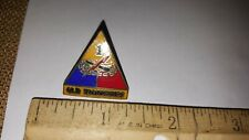 Vintage Pin Army 1St Armored Division Old Ironsides Look!