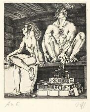 BALDWIN ZETTL - Adam und Eva - A u. E - Kupferstich 1978