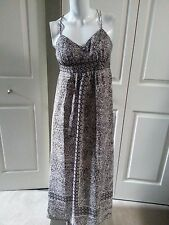 NEW ANN TAYLOR LOFT BLACK/WHITE FLORAL PETITE MAXI DRESS SIZE 0P