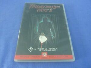 Friday The 13th Part 3 DVD Dana Kimmell Paul Kratka R4 Free Tracked