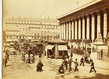 Original-photo, GR,. ca 1880, Francia, París, la place de la Bourse