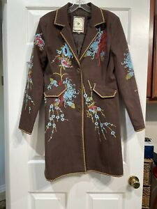 Paparazzi Biz Sport Women's Size M Boho Hippie Rodeo Floral Western  Jacket EUC!