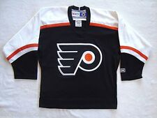 Philadelphia Flyers Black NHL Hockey CCM Authentic Jersey NEW Size Youth S/M