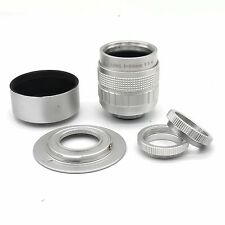 C-m4/3+Silver 50mm f1.4 CCTV TV Lens C mount for m4/3 GH2 EP2 EPL1+Macro Ring