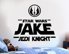 Star Wars Personalized Jedi DIY Wall Art Sticker/Decal/Mural bedroom playroom