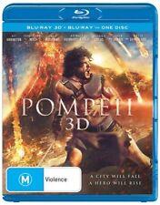 Pompeii 3D (Blu-ray, 2014) Epic action movie- New & Sealed -Region B AUS
