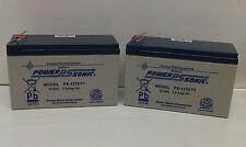 2 x Power Sonic 12V 7AH Battery Electric Razor Scooter E300, Pocket Mod, MX350