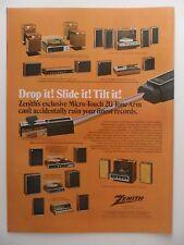1973 Print Ad Zenith Micro Touch 2G ~ Drop it! Slide it! Tilt it!