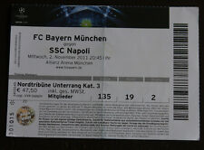 old TICKET CL Bayern Munchen Germany - SSC Napoli Italy