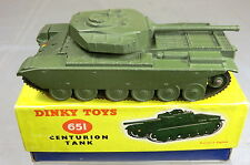 DINKY TOYS  MODEL No 651    CENTURION TANK    (  2nd VERSION BOX )    VN  MIB