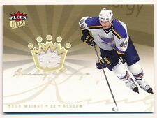DOUG WEIGHT 2005/06 ULTRA SCORING KINGS BLUES RELIC GAME USED JERSEY SP