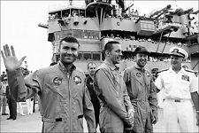 Apollo 13 Lovell Swigert Haise USS Iwo Jima 8x12 Silver Halide Photo Print