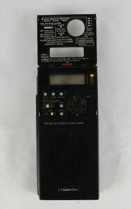 Vintage Toshiba Portable LCD Quartz AM/FM Clock Radio Model No. RC-1790F