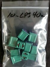 10 Green 40A AMP Female Plug in Blade J-case Cartridge Low Profile PAL Fuses ABS