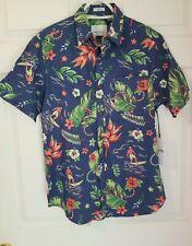 Paper Denim & Cloth Button Down NWT Small Tropical Theme Multicolored Classic Fi