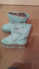 Khombu Kids Waterproof Winter Snow Boots in Light Blue UK Size 12