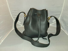 Vintage Coach Leather Black Drawstring Duffle Bag Purse Shoulder Crossbody