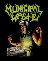 MUNICIPAL WASTE cd cvr THE ART OF PARTYING MW LOGO #2 Official SHIRT SMALL OOP