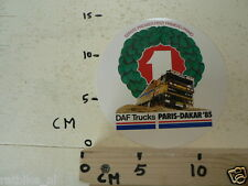 STICKER,DECAL DAF TRUCKS PARIS-DAKAR 1985 LARGE