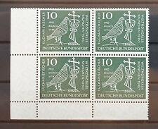 Bund 1960 ** Mi 330 Weltkongress 10 Eckrandviererblock 4er Ecke unten links (089