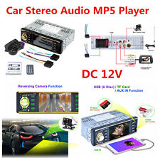 """12V 4.1""""Car MP5 Player Bluetooth Touch Screen Stereo Radio+Steering Wheel Remote"""