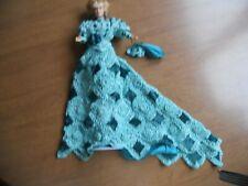 Barbie Doll Aqua & dark green   Crochet FORMAL DOLL DRESS W/DOLL