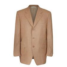 Canali hombre tres botones Marrón Tostado Informal Lana Americana chaqueta