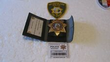 More details for las vegas vintage obsolete police detective badge and patch & wallet complete