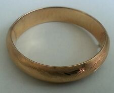 "Gorgeous Vintage Engraved 14k gold  bangle hinge bracelet 20 grams wrist 6""3/4"