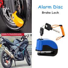 10mm Alarm Disc Security Lock+Remind Cable Motorcycle Dirt Road Bike Brake Rotor