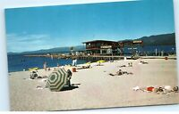 Lake of the Sky Bijou Beach South Lake Tahoe CA Vintage Postcard D84