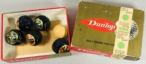 6 Vintage Dunlop 65 Wrapped Golf Balls in Original Box