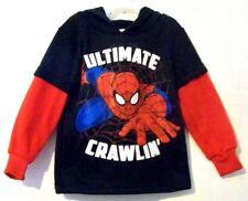 New Marvel Spiderman Black Hooded Sweatshirt Size 2T NWT!!!
