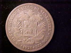 VENEZUELA 5 BOLIVARES 1921