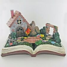 Fairy Garden Stone House Magic Book Scene Outdoor Decor Novelty Sculpture 80280