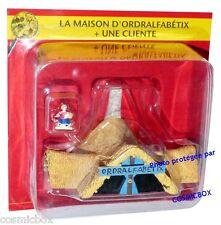 Le VILLAGE d'ASTERIX n 14 maison d'ORDRALFABETIX figurine cliente figure PLASTOY