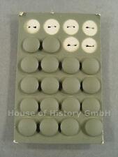 Ejercito, par de campo grises botones para el gorro Campo m-43 y m-42, baschlikmütze