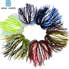 Fishing Rubber Jigs Ring 50 Strands Skirts Fish Baits Silicone Lures Mixed Color