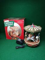 Mr Christmas Go Round Carousel Turns & Plays 25 Songs Animated #29107 TESTED !!!