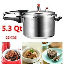 5.3 Qt Pressure Cooker Aluminium Alloy Kitchen Electric/Gas Stove Cookware 22CM